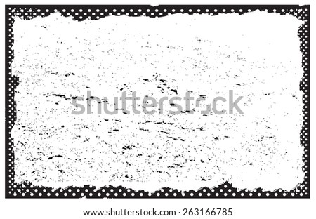 Grunge frame.Distress texture frame.Grunge background.Abstract vector template. - stock vector