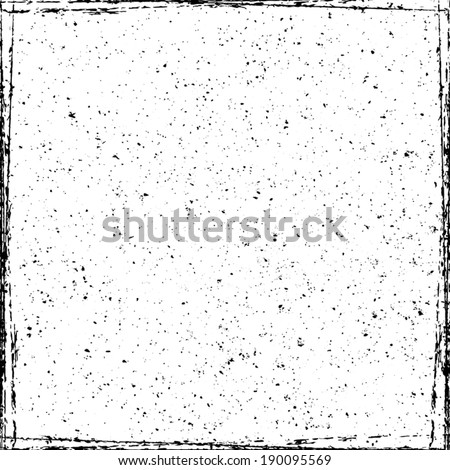 Grunge Frame Overlay Texture for your design. EPS10 vector. - stock vector