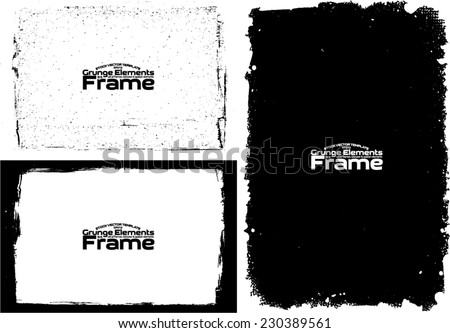 Grunge frame set texture - Abstract design template. Stock vector set - easy to use - stock vector