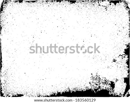 Grunge frame set. vector template - stock vector