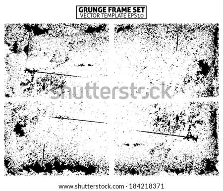 Grunge frame texture. vector template - stock vector
