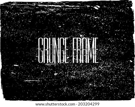 Grunge frame. vector template  - stock vector