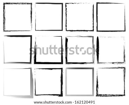 Grunge frames - stock vector