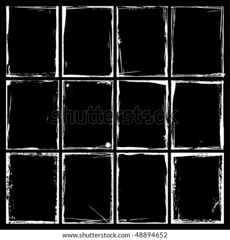 Grunge Frames and Corners. Illustrator EPS 8 Vector for multiple applications. - stock vector