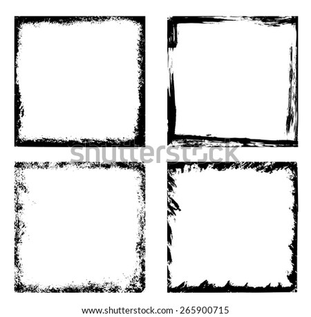 Grunge frames - collection - stock vector