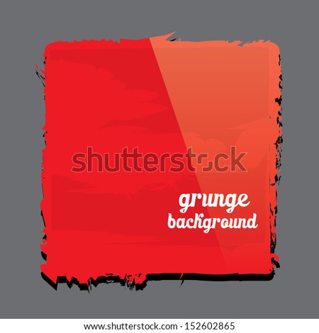 Grunge glossy red shape. Abstract grunge red background can be used for merry christmas or happy new year design. Hand drawn. abstract grunge banner - stock vector