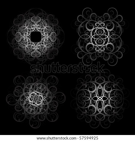 Grunge gothic ornament - stock vector