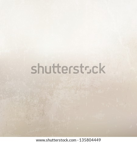 Grunge gray-beige background. Wall. - stock vector
