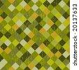 Grunge green background - stock vector