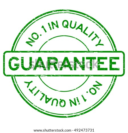 Grunge green number one in quality guarantee rubber stamp