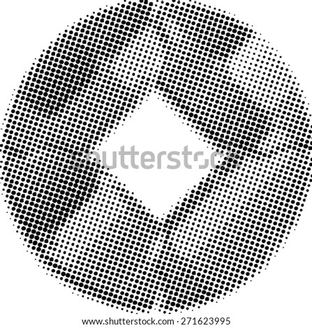 Grunge halftone dots vector texture background.