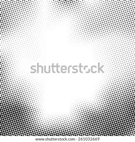 Grunge halftone dots vector texture background . Border Frame .  Dotted Abstract Vector Texture . Distress Dirty Damaged Spotted Circles Overlay Texture . - stock vector