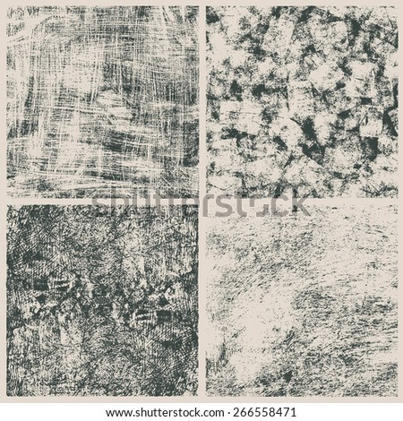 grunge halftone textures set. vector illustration - stock vector