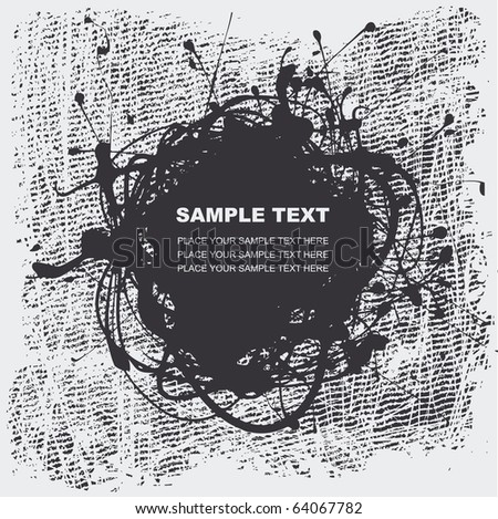 grunge halftone textures with space for your text, vector illustration - stock vector