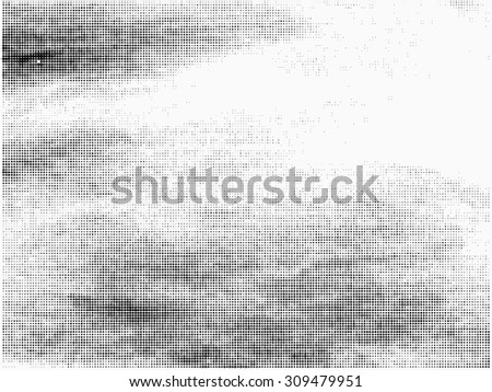 Grunge halftone vector background.Halftone dots vector texture. - stock vector