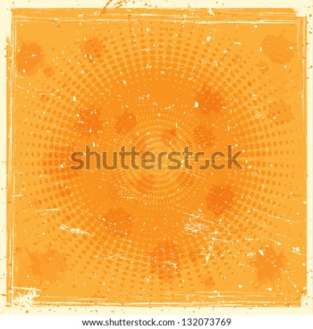 Grunge halftones background - stock vector