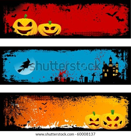 Grunge Halloween backgrounds - stock vector