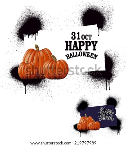 grunge halloween banner - stock vector
