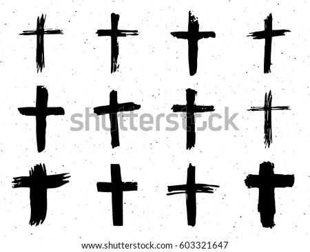 grunge hand drawn cross symbols set stock vector 2018 603321647 rh shutterstock com vector cross product calculator vector crossed with itself