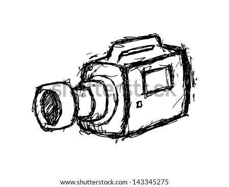 grunge handy cam - stock vector