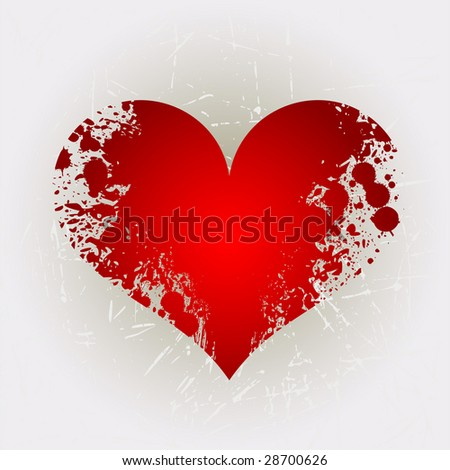 Grunge heart shape 2