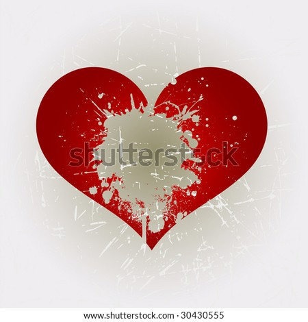 Grunge heart shape 7