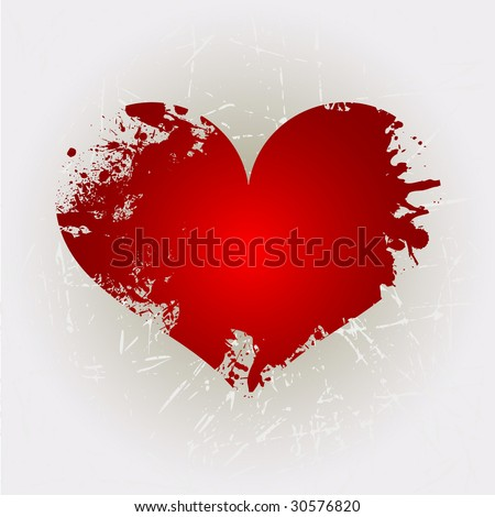 Grunge heart shape 8