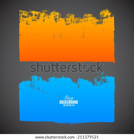 Grunge ink hand-drawn shapes - stock vector