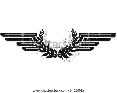 grunge insignias - stock vector