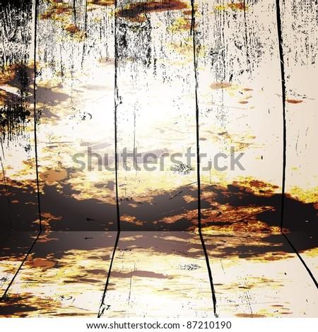 grunge interior vector background - stock vector