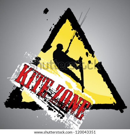 Grunge kite zone. vector illustration.
