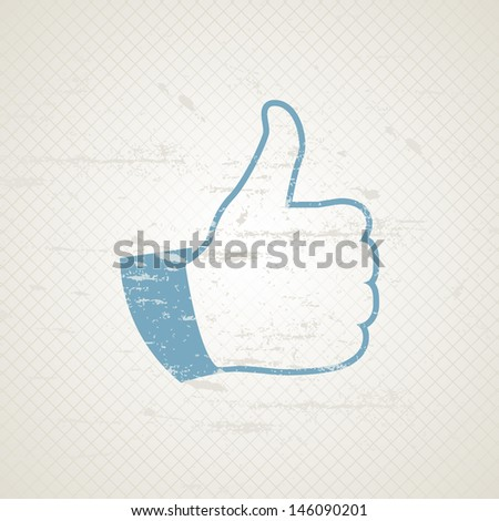 Grunge Like Symbol - stock vector