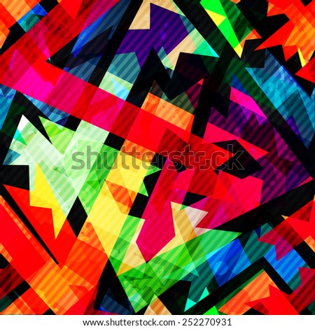 grunge maze seamless pattern - stock vector
