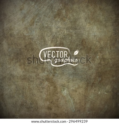 Grunge metal plate in EPS10 - stock vector