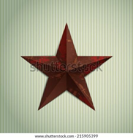 Grunge military metal star.  - stock vector