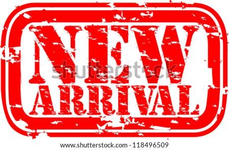 Grunge new arrival rubber stamp, illustration - stock vector