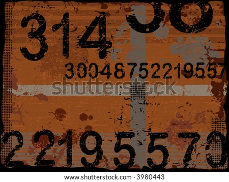 Grunge Numbers background - Separate vector Layers can be used as a graphic background wallpaper or element. - stock vector