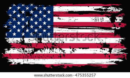 grunge old usa flagvector illustration stock vector 475355257