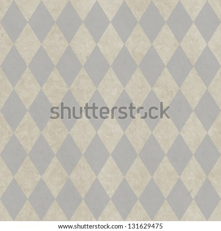 Grunge paper seamless pattern with rhombic geometric texture