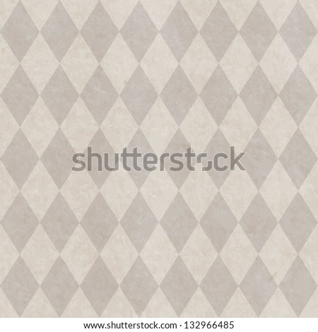 Grunge paper seamless pattern with rhombus geometric texture