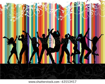 Grunge party background - stock vector