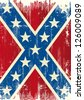 Grunge patriotic confederate flag. A background for a poster - stock photo