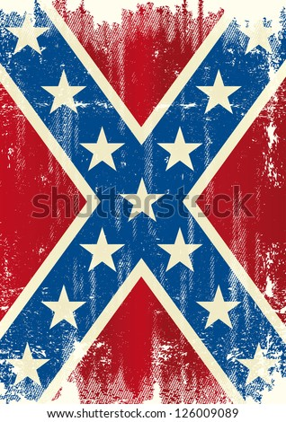 Grunge patriotic confederate flag. A background for a poster - stock vector