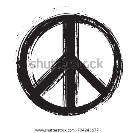 grunge peace sign vector dirty peace symbol stock vector 704243677 rh shutterstock com peace sign vector free download peace sign vector free