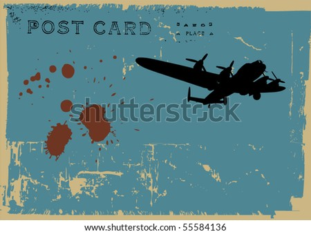 grunge postcard design - stock vector
