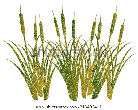 grunge reed - stock vector