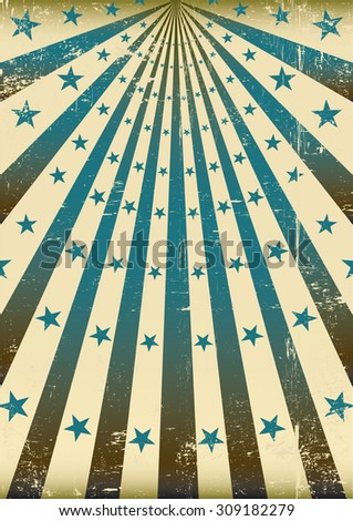 grunge retro blue sunbeams. A vintage and retro style blue poster with a texture for you