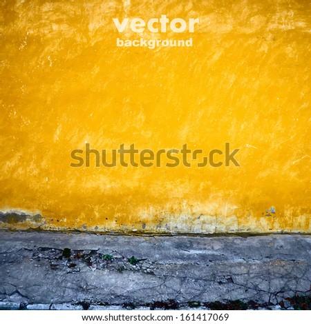 grunge retro vintage interior, vector background - stock vector