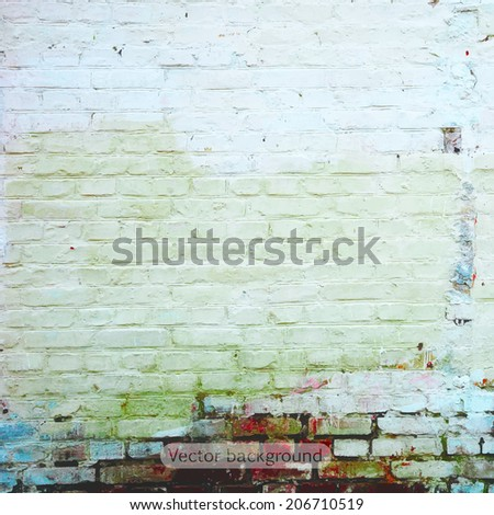 grunge retro vintage texture, vector background - stock vector