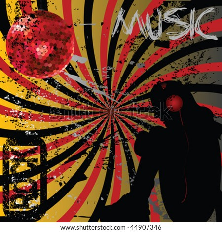 Grunge rock music concept - stock vector